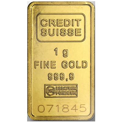 Credit Suisse 1g Gold Bar South Bay