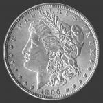 1896 Morgan Dollar Front-View South Bay Gold