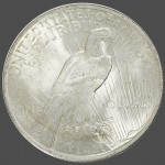 1922 Peace Dollar Back-view South Bay Gold