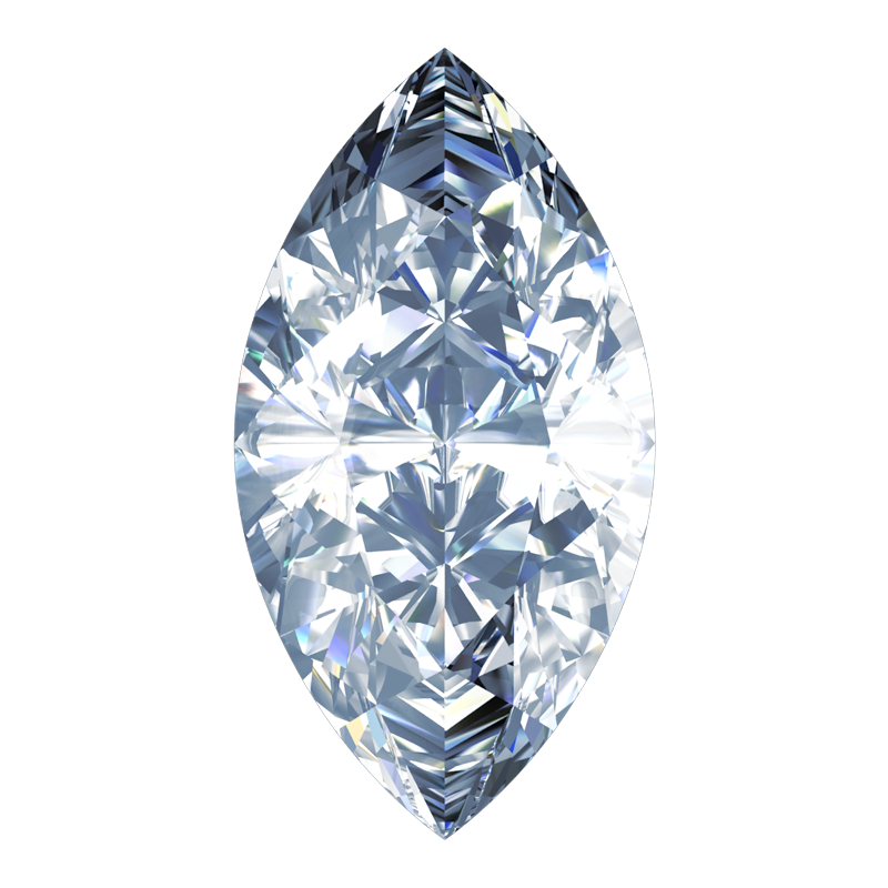 Diamond Marquise Cut South Bay Gold on Loose Diamond Transparent Background