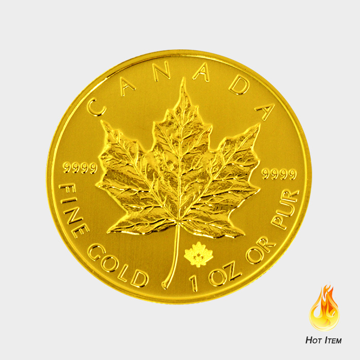 Sell Canadian Gold Maple Gold Bullion Obverse South Bay Gold