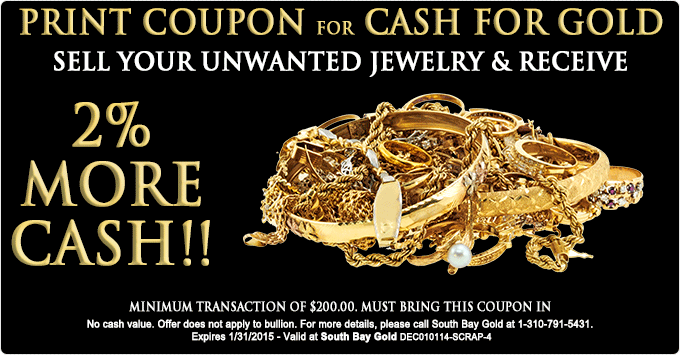 Selling Gold Jewelry Los Angeles - South Bay Gold Compare With Fast Fix January