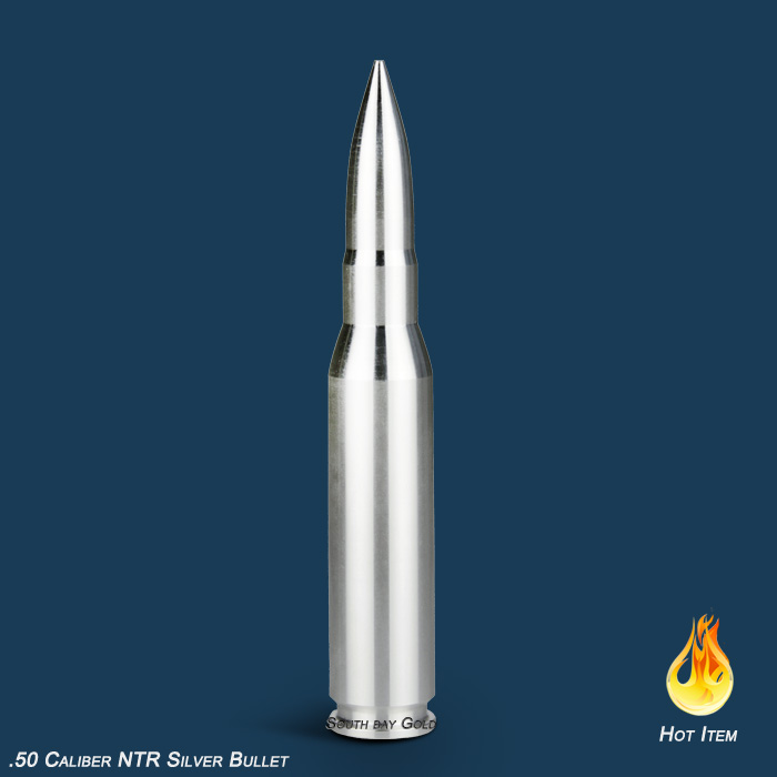 Silver Bullet 50 Caliber 10oz Ntr South Bay Gold Coin