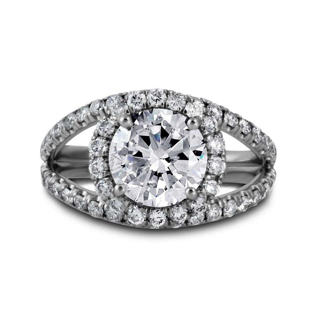 South Bay Gold-Diamond Halo Ring