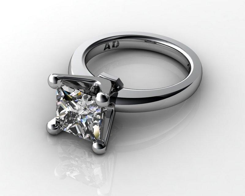 South Bay Gold Princess 3Carat Diamond Ring Platinum