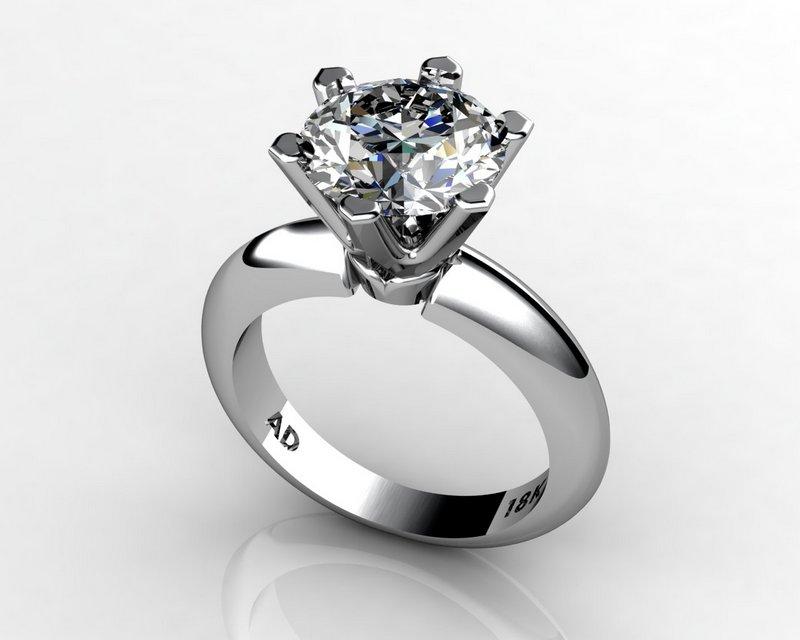 South Bay Gold Round-Cut Diamond 3Carat White Gold