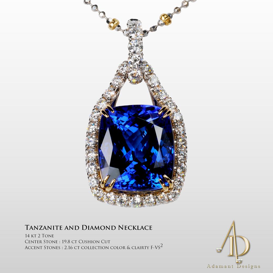 Blue Tanzanite Pendant-South Bay Gold