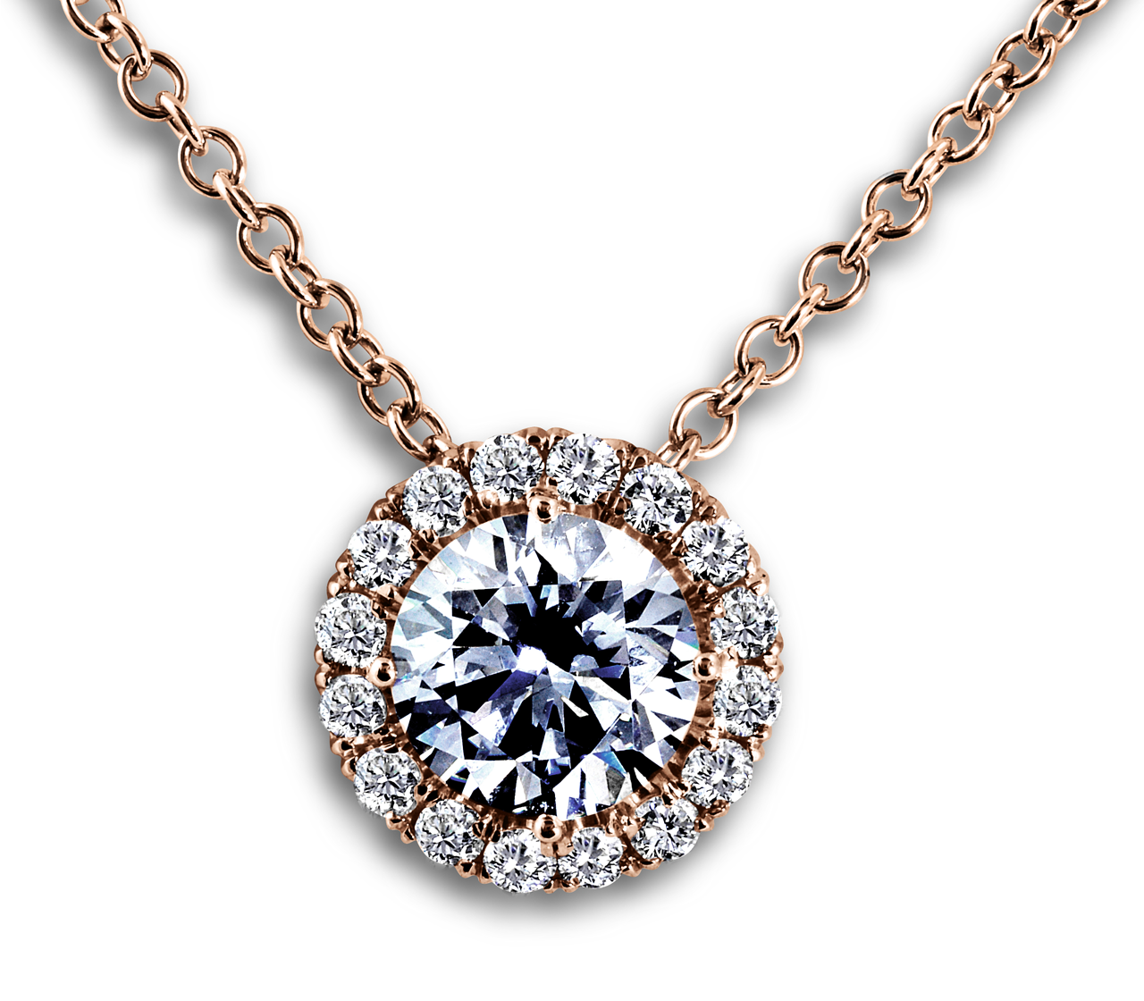 Diamond Halo Pendant-South Bay Gold