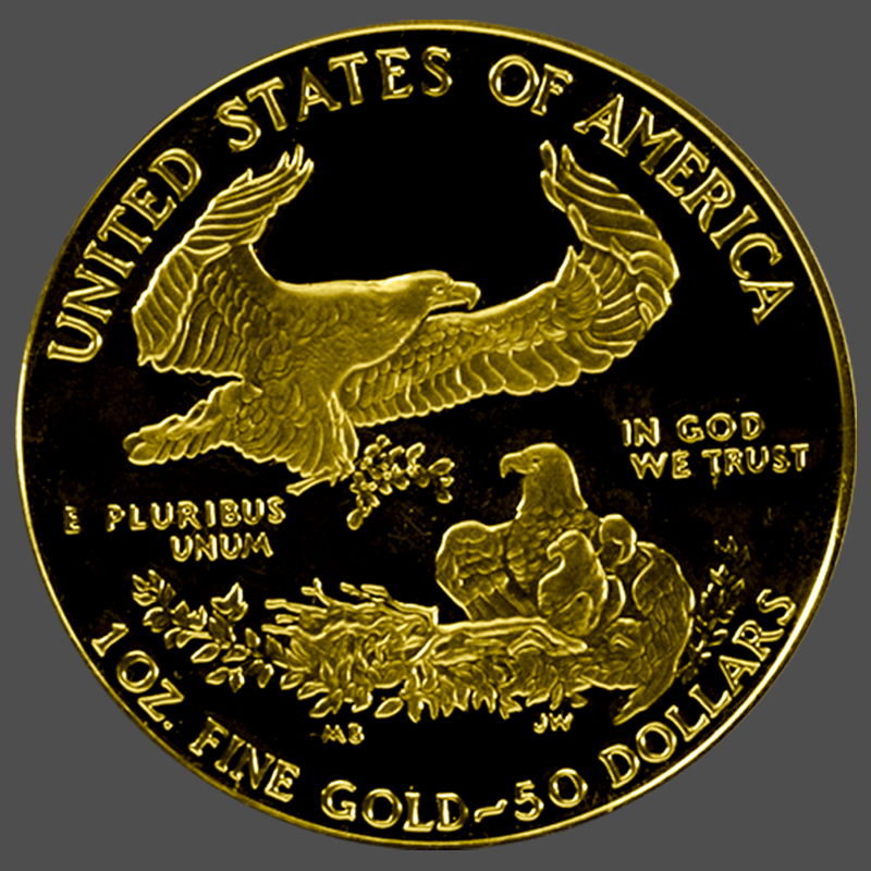 American Gold Eagle Proof -Back South Bay Gold