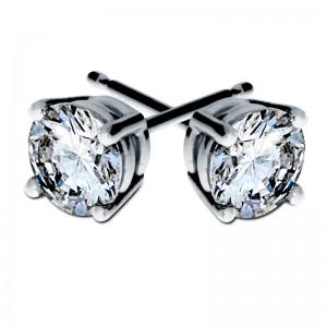 Round Cut Stud Diamond Earrings -South Bay Gold