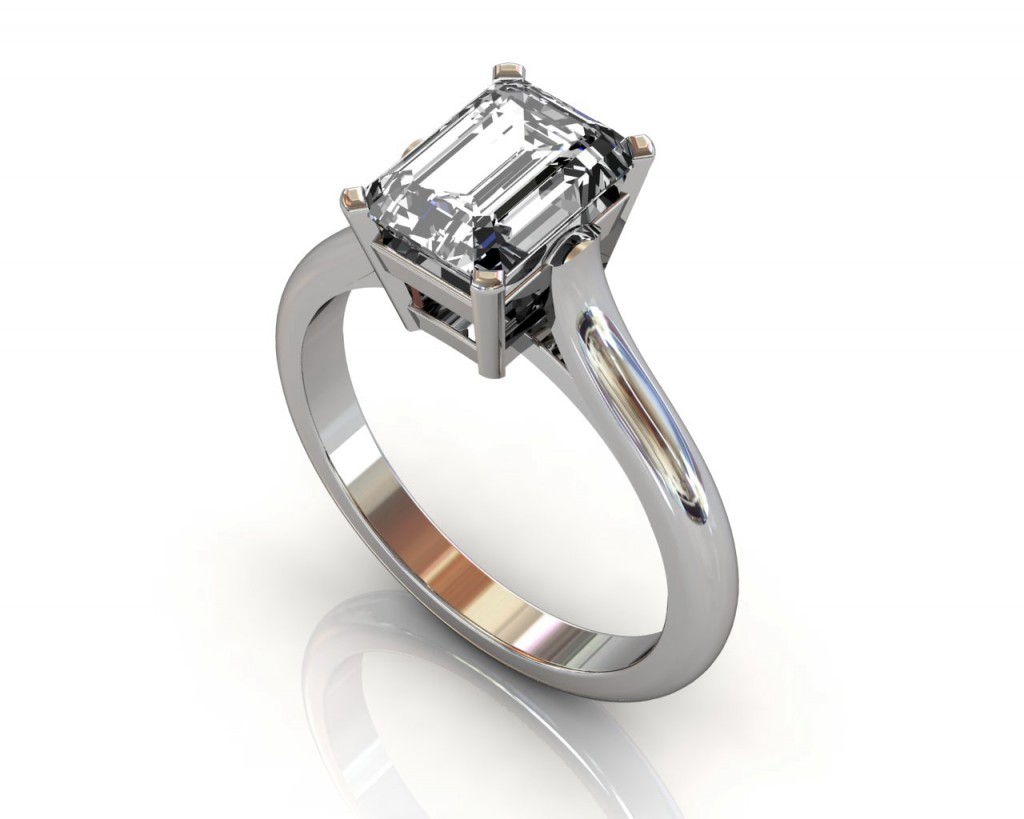 2ct emerald cut ring south bay gold torrance