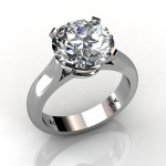 SOUTH BAY GOLD Round Cut Diamond Solitaire Engagement Wedding Ring