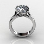 Round Cut Diamond Solitaire Engagement Wedding Ring South Bay Gold