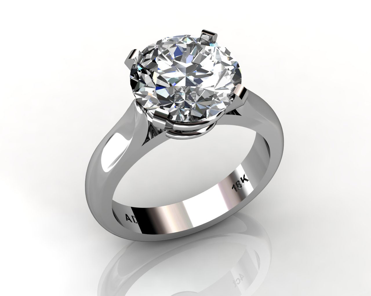 round cut diamond solitaire engagement wedding ring south. Black Bedroom Furniture Sets. Home Design Ideas