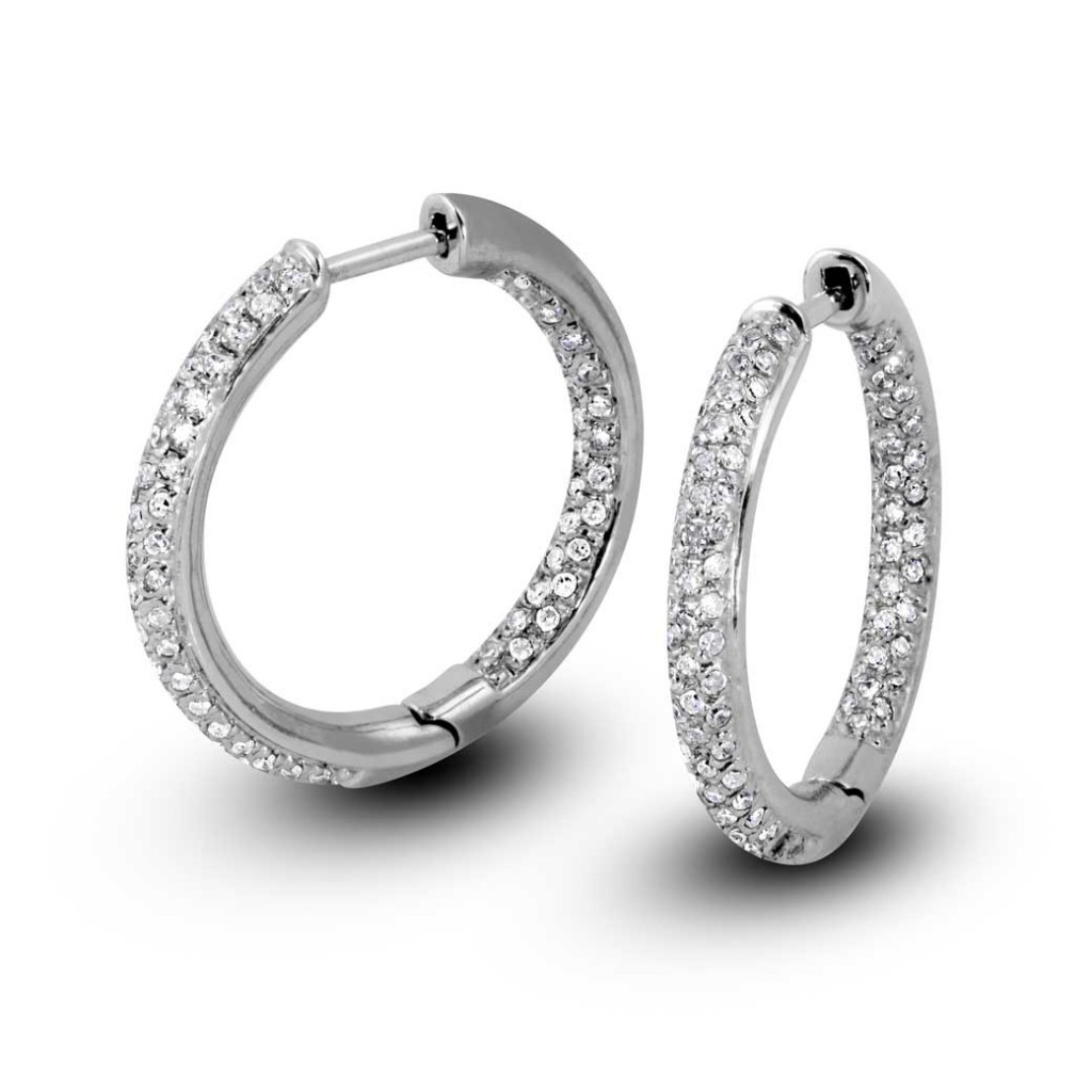 South Bay Gold Pavé Diamonds Hoop Earrings-Torrance