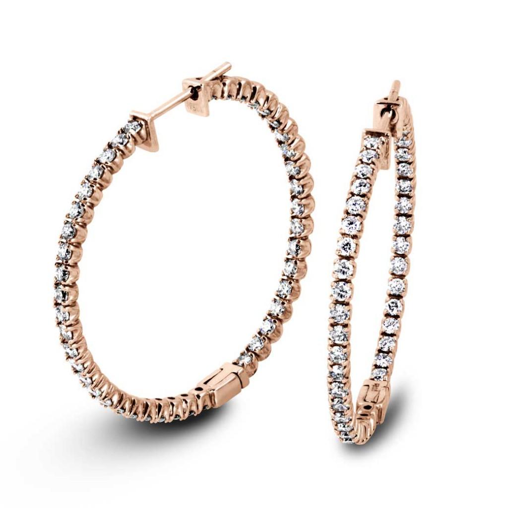South Bay Gold Diamonds Hoop Earrings-Torrance