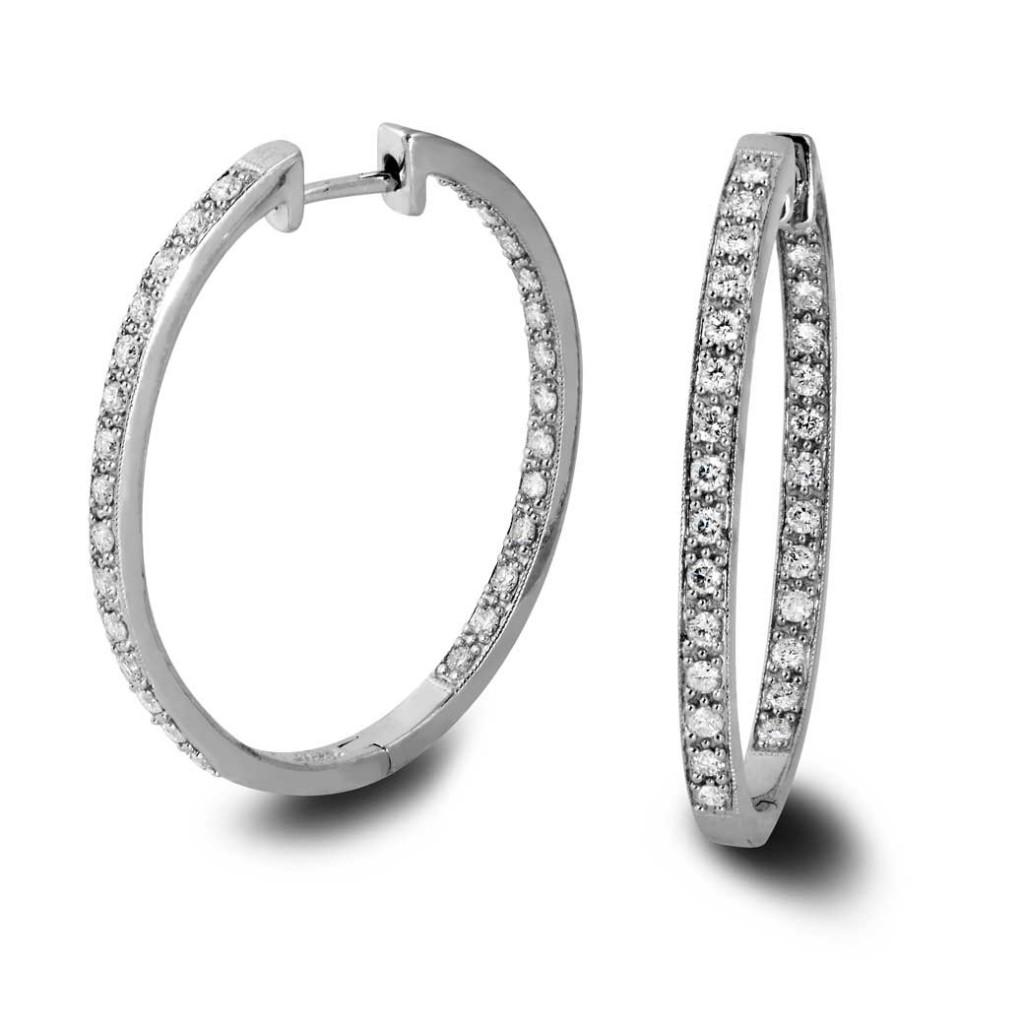 South Bay Gold Diamonds Hoop Earrings-Torrance South bay Gold