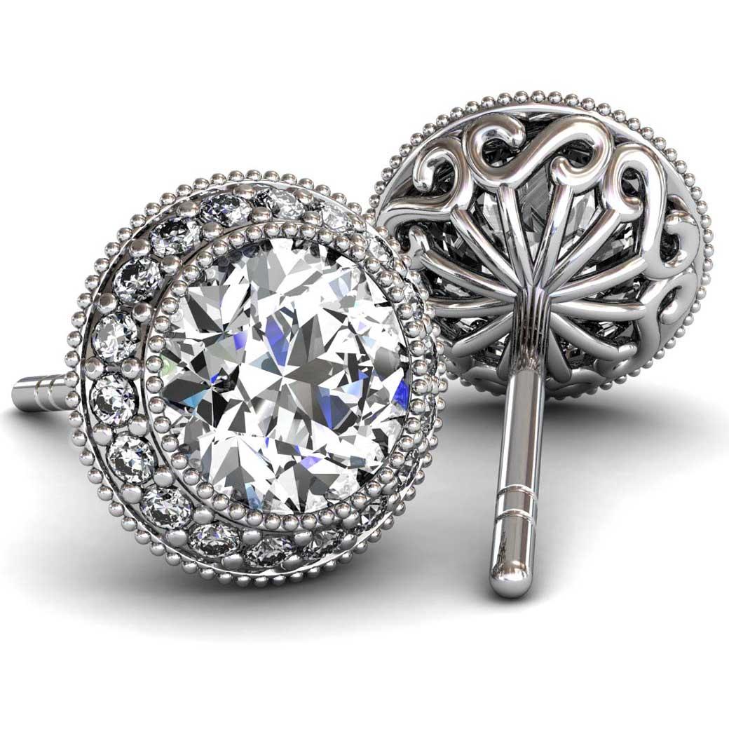 regal halo ruby earrings south bay gold