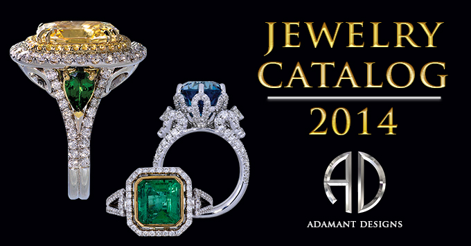 Jewelry Catalog 2014 - Adamantine Rings Champagne Diamonds Blue Zircon Tanzanite - South Bay Gold