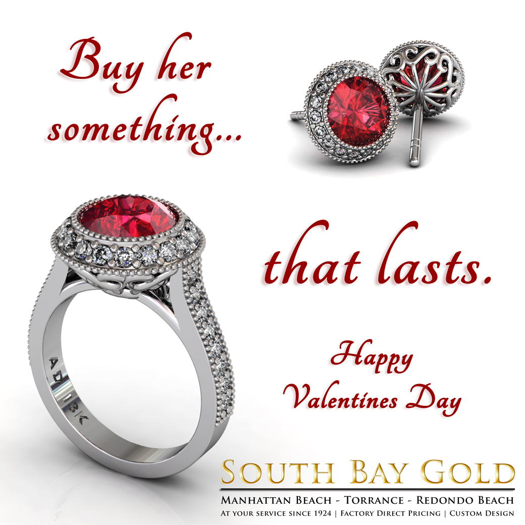 valentine 39 s day jewelry at south bay gold