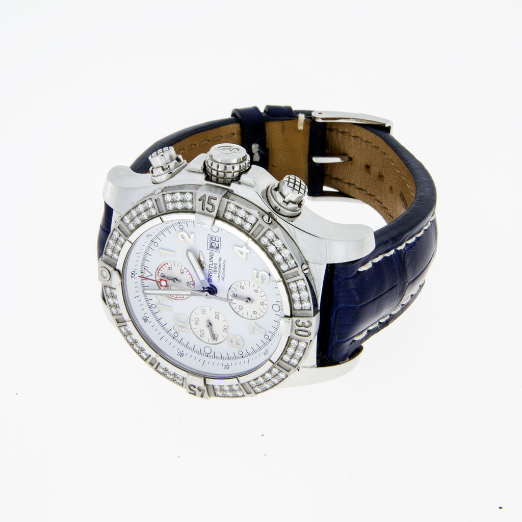 Breitling 1884 Super Avenge II Diamond Bezel Chronograph - South Bay Gold - Torrance