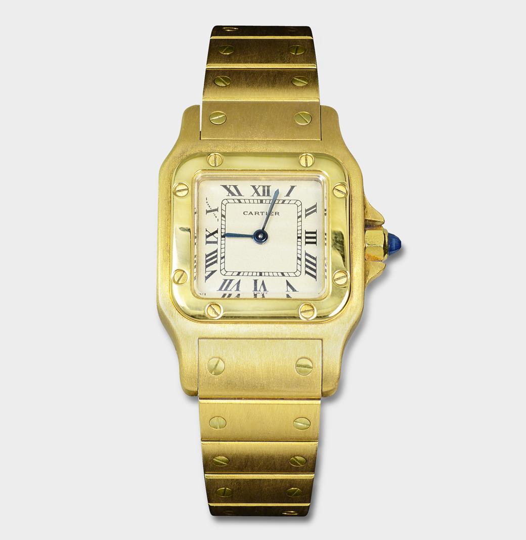 Cartier Santos - 0959 - 18kT Gold Womens Watch - South Bay Gold