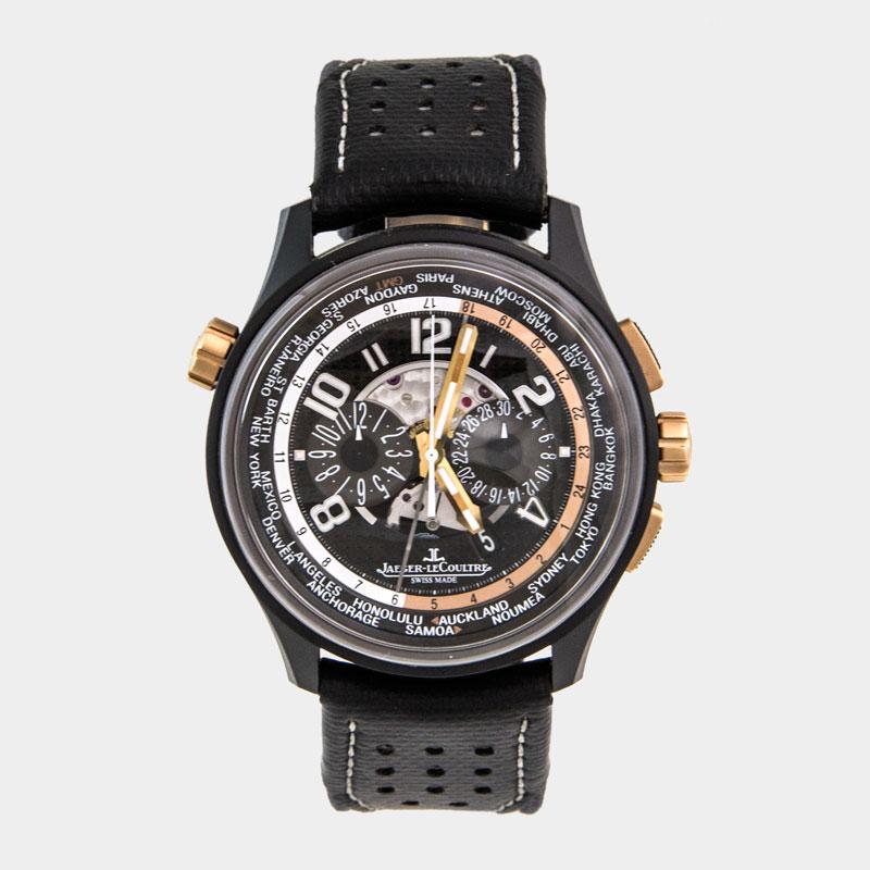 Jaeger Lecoutre AMVOX5 World Chronograph Watch - South Bay Gold - Torrance