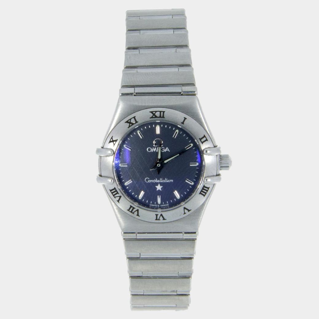 Omega Womens Constellation- Dark Grey Diamond Watch South Bay Gold
