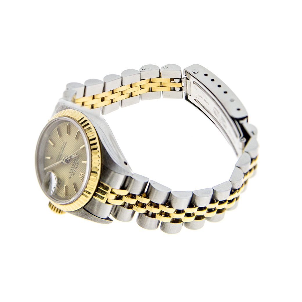 Rolex Ladies DateJust 2 Tone Tapestry South Bay Gold 16233