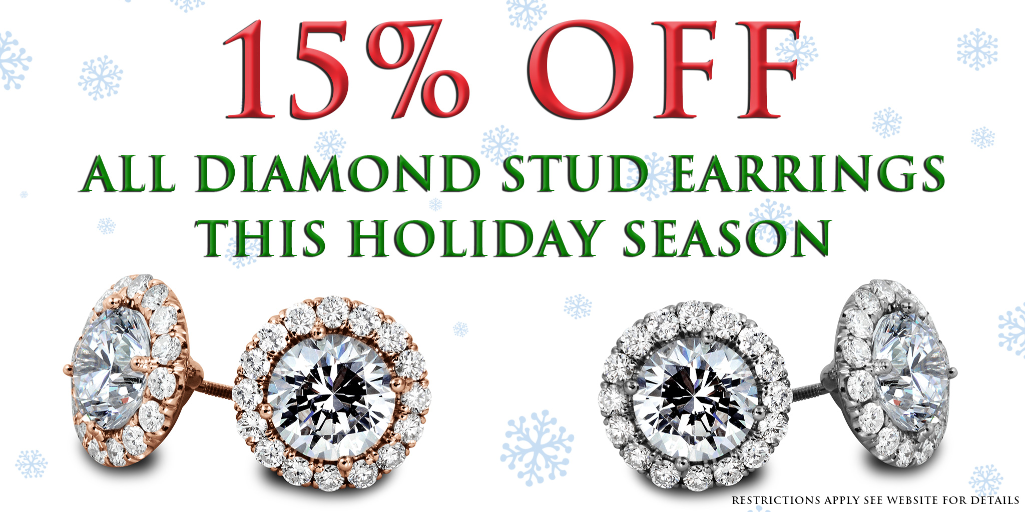 All Diamond Stud Earrings 15 Percent Off South Bay Gold