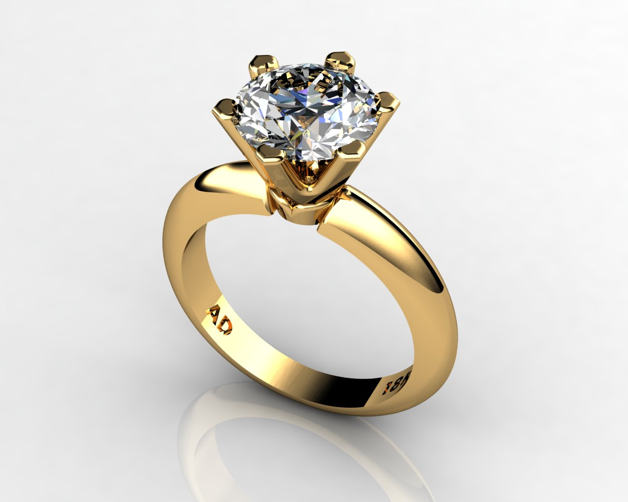 Kt Gold Engagement Ring