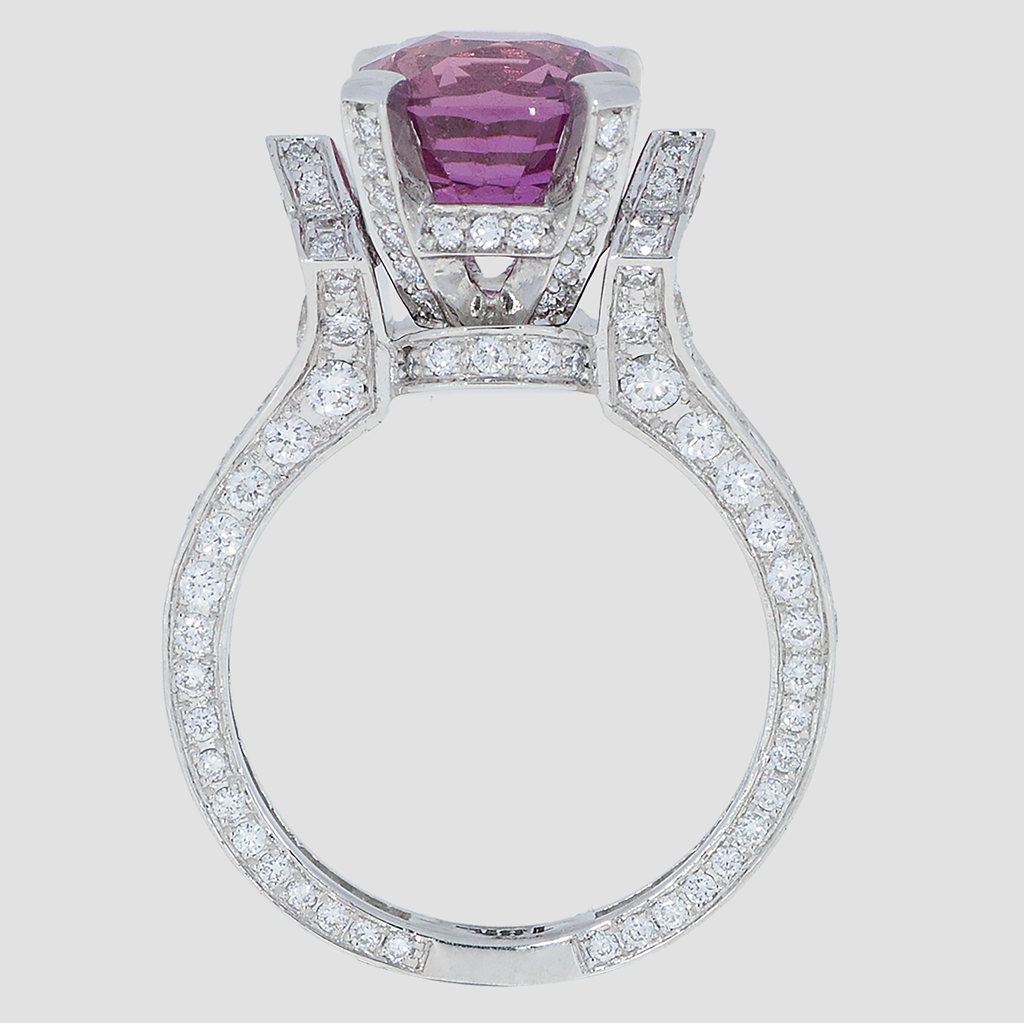 Pink Sapphire Diamond - White Gold - Torrance Jewelry Store