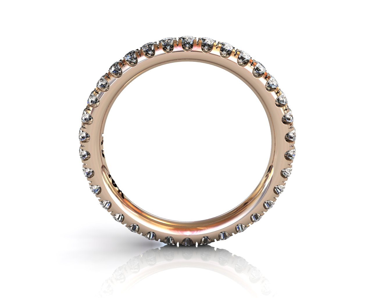 Wedding Bands Ladies Diamonds Craponia 24 Stone 0.74 TCW 3.0g 18kt Rose Gold