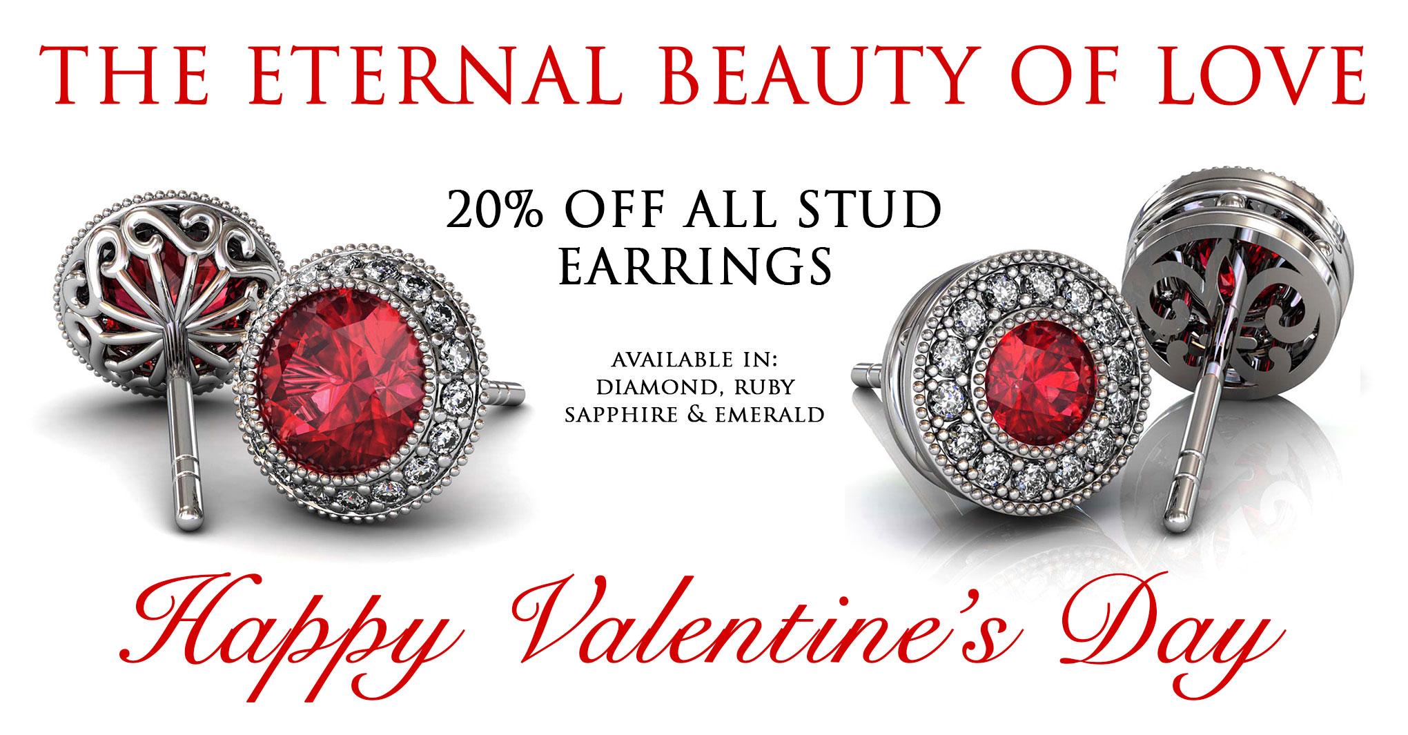 day ruby diamond halo stud earrings sale