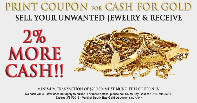 Selling Gold Jewelry Coupon Torrance South Bay Gold Compare With Fast Fix - 2015