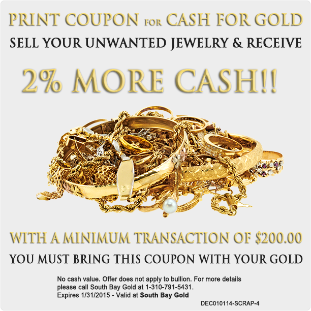 Selling Gold Jewelry Coupon South Bay Gold Compare With Fast Fix