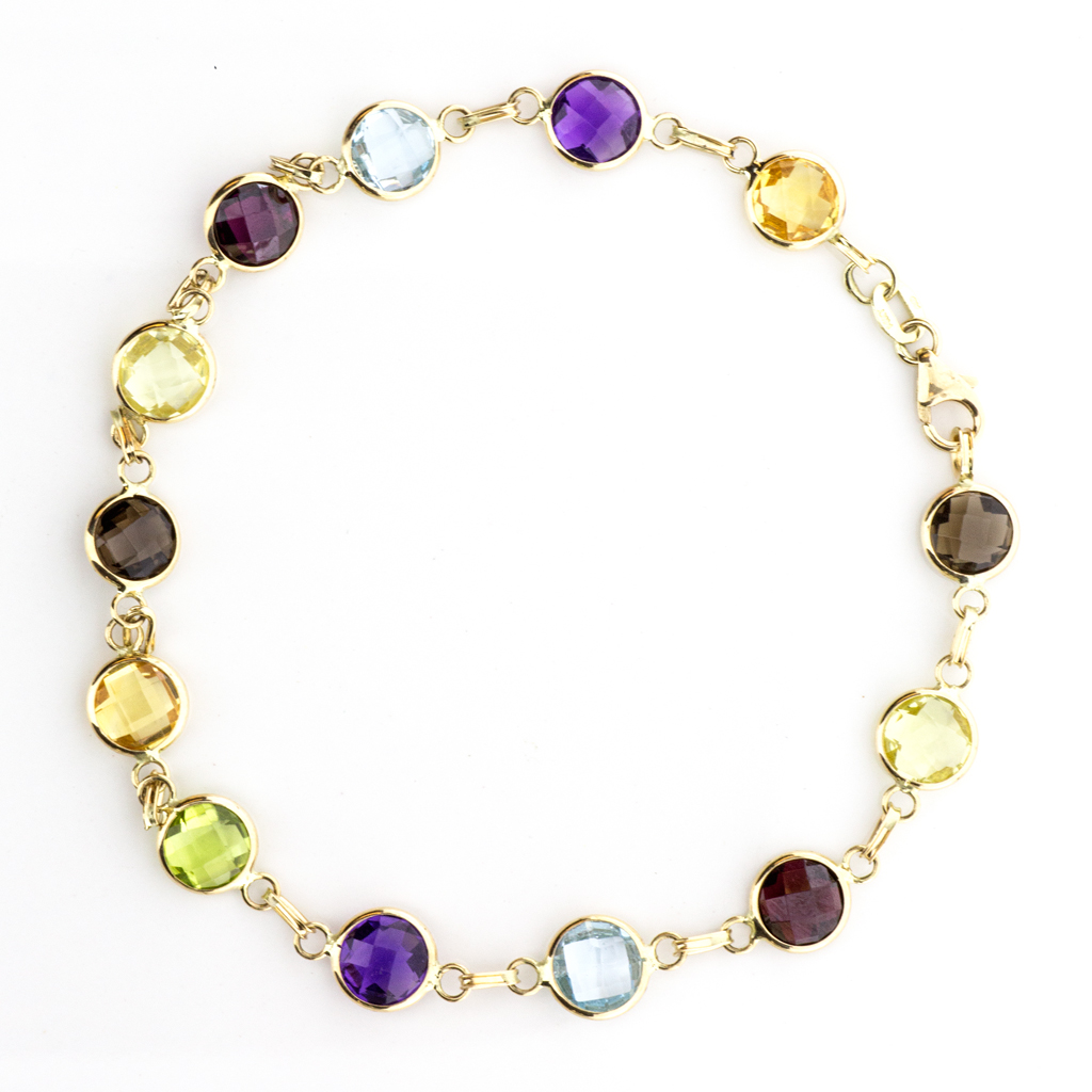 14k Yellow Gold Multi Colored Gemstones By The Yard - SBG Jewelry Store Torrance