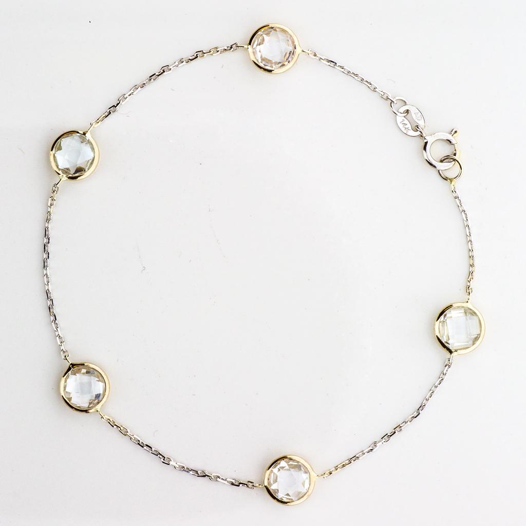 Bracelet 14k white Gold Quartz Gemstones - By The Yard - SBG Jewelry Store Torrance