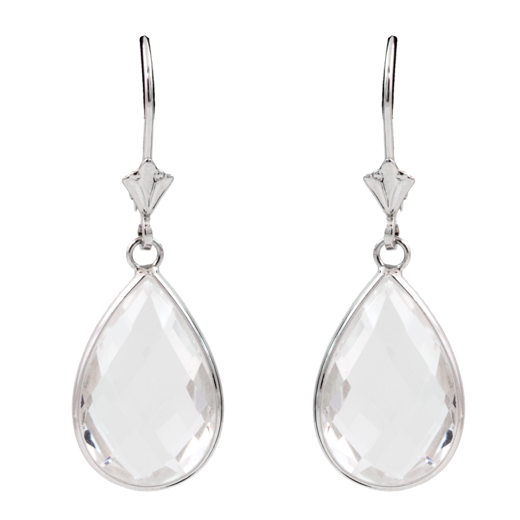use price is products faceted in droplet quartz white earrings code silver es eliza