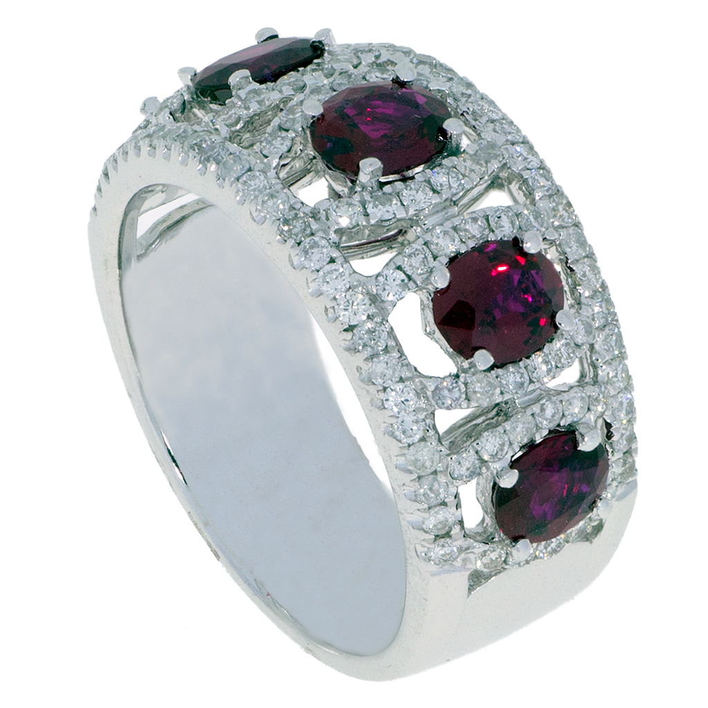 Ruby Diamond Ring -34- south bay gold