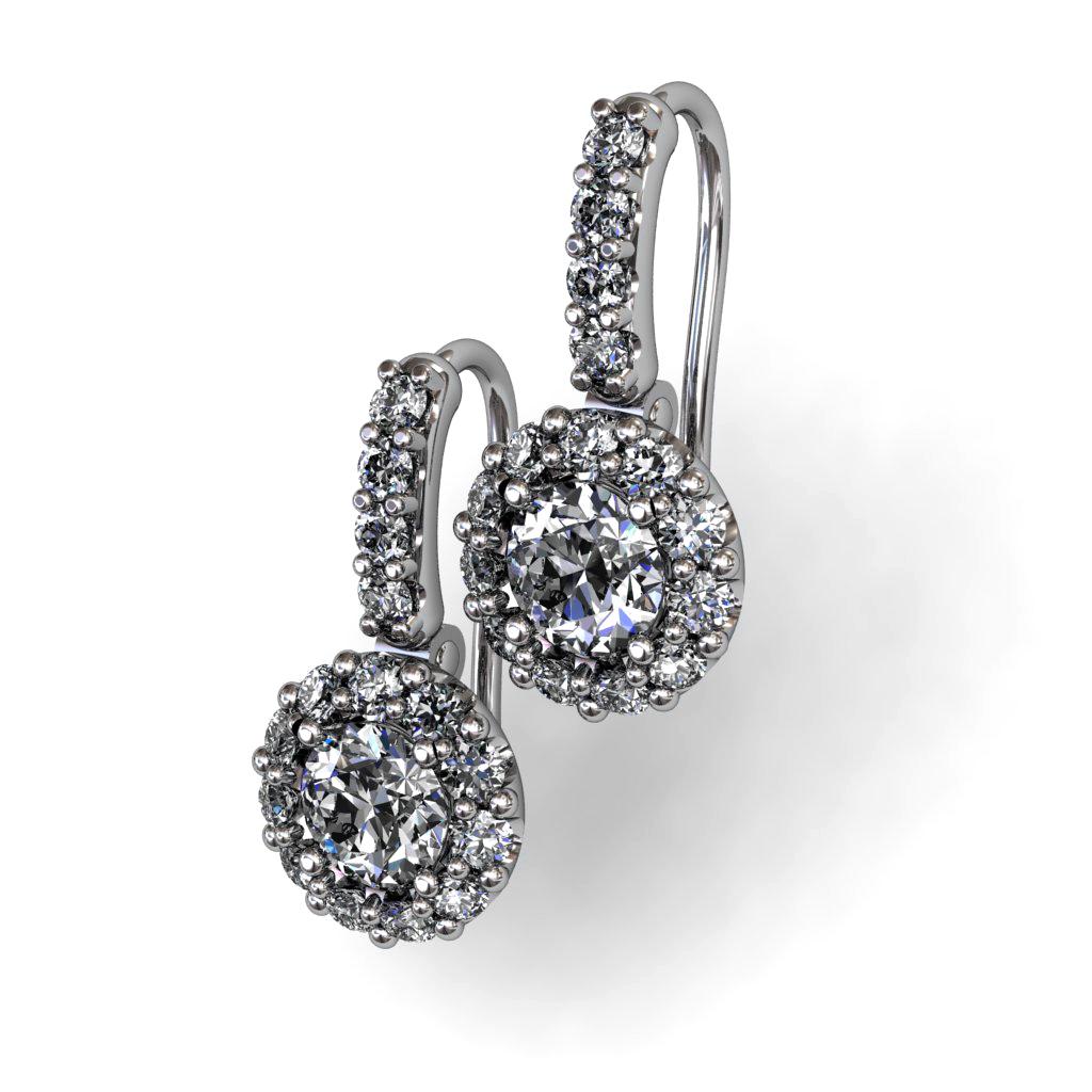 Diamond and diamonds Earrings White Gold