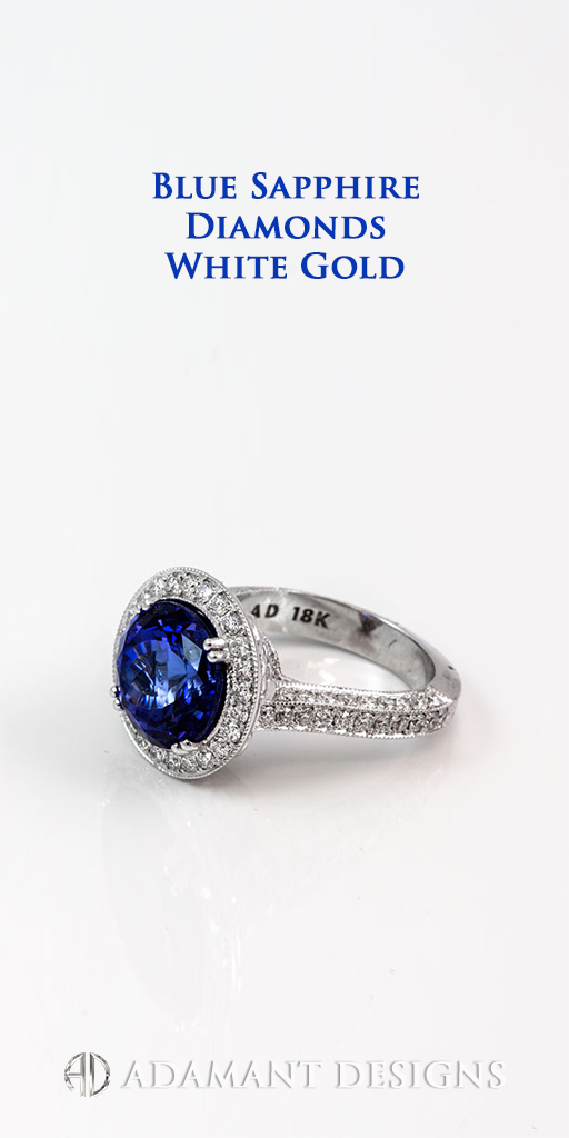 Adamantine Blue Sapphire Ring at South Bay Gold