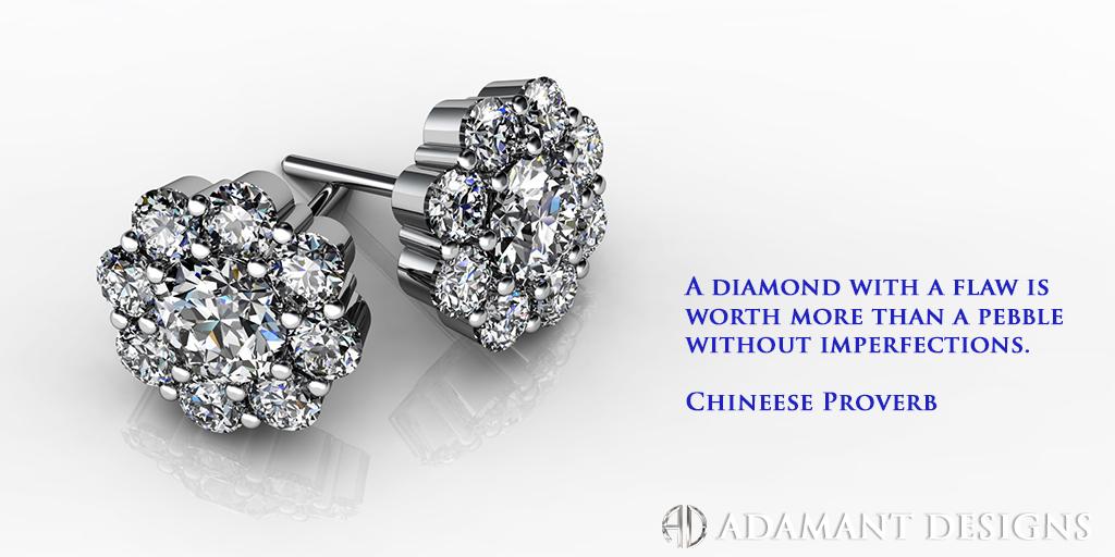 Diamond Florette Earrings - SBG Jewelry Store - Torrance