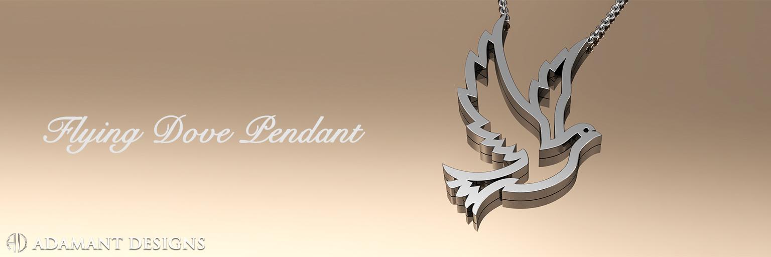 Flying Dove Pendant - LA Jewelry Store